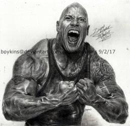 dwayne the rock johnson by BOYKINS