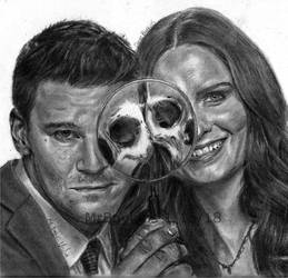 seeley booth and temperance brennan by BOYKINS