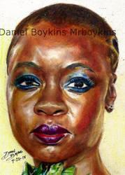 color pencil practice -danai by BOYKINS