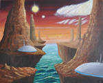 Two Sun Alienscape by Spacepretzel