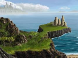 Ruins Above the Sea by Spacepretzel
