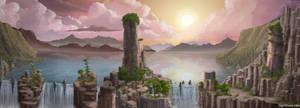 Falls Landscape by Spacepretzel