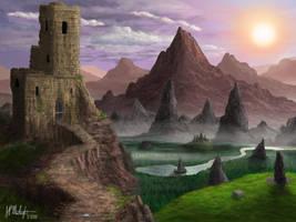 Path to the Mountainous Ruins by Spacepretzel