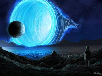 Big Blue Wormhole by Spacepretzel