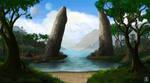 Two Stone Pillars by Spacepretzel