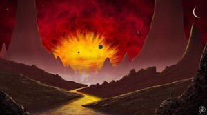 Big Raging Sun by Spacepretzel