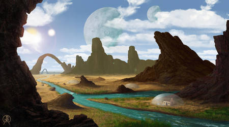 A River Through the Desert by Spacepretzel
