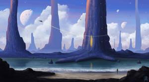 Along a Future Shore by Spacepretzel