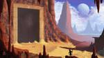 Standing at the Desert Door by Spacepretzel