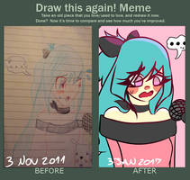Draw This Again meme!  - Izachi by maribitter16