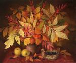 Still-life with leaves by Zrazhevsky-Arkady