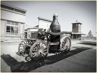 Horse Drawn Fireman's Wagon by Leannnorrisbond