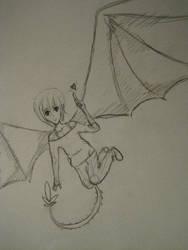 Dragon Girl by dragons-on-mars