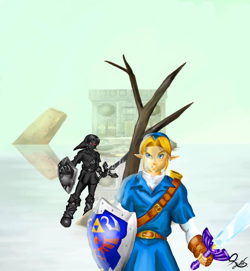 Link and Dark Link by superstarmario17