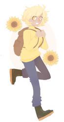 sunflower boy by tirasu