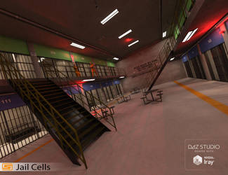 Jail Cell Block by Sedorrr