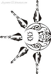 Eclipse tribal tattoo by NewtonianNocturn