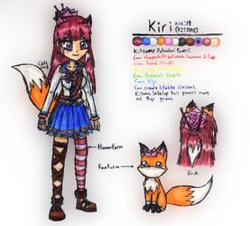 Kiri the Kitsune Concept Art by lasercraft32