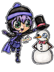 Playing in the Snow (Chibi Violet) by lasercraft32