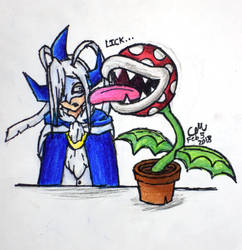 Aki meets Piranha Plant by lasercraft32
