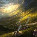 The Golden Plains of the Unicorn Ivory 2 by Alayna