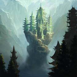 L5R: Mountain's Anvil Castle - Dragon Stronghold by Alayna