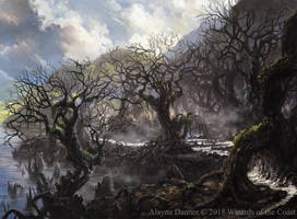 Magic: The Gathering- Swamp for M19 Standard by Alayna