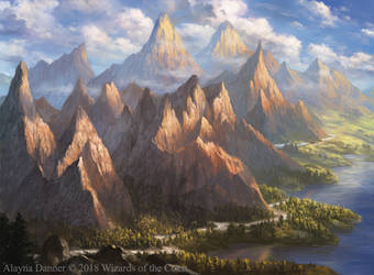 Magic: The Gathering- Mountain for M19 Standard by Alayna
