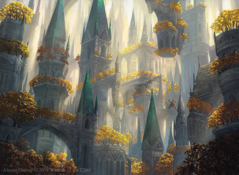 Selesnya Forest from M:tG Guilds of Ravnica by Alayna