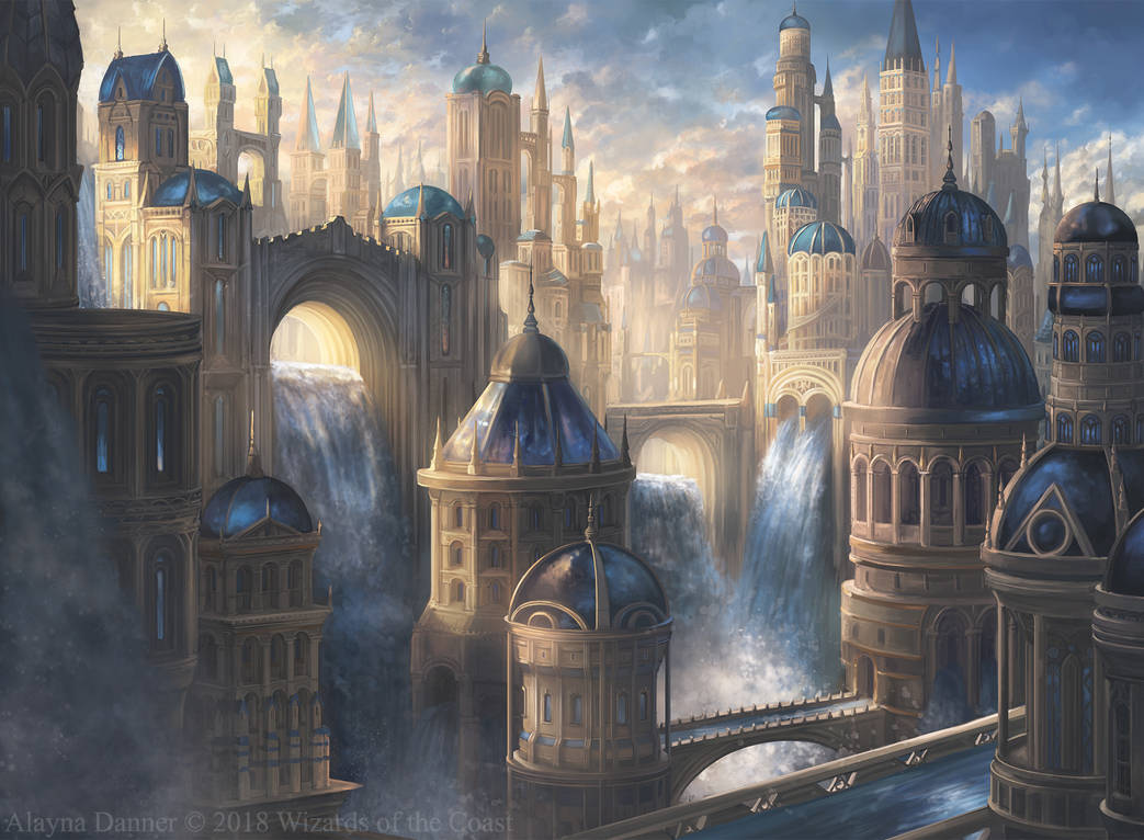 Azorius Island- Magic: The Gathering Ravnica by Alayna