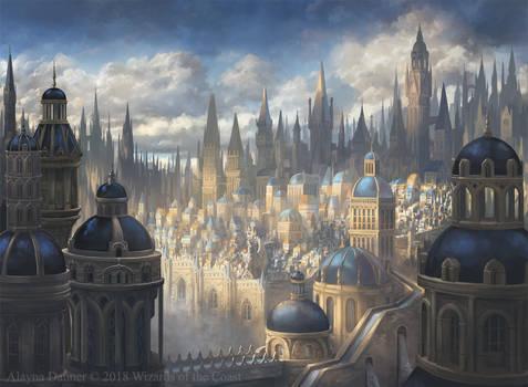 Azorius Plains- Magic: The Gathering Ravnica by Alayna