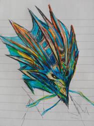 Dragon head by Em007et