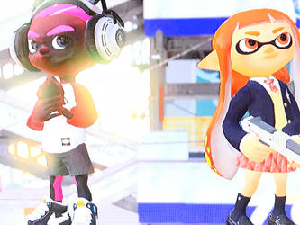 Me and Inkling girl 2 by MandelJ