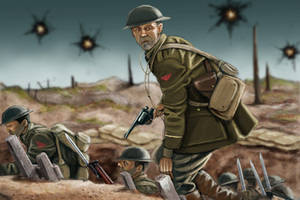 British Infantry go over the top WW1 1916 by timcatherall