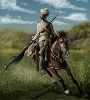 Indian lancer WW1 by timcatherall