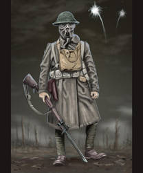 US Doughboy WW1 by timcatherall