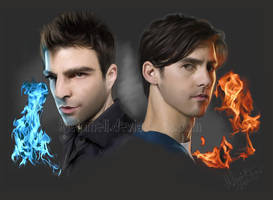 Heroes Sylar and Peter by kleinmeli