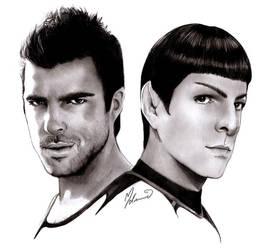 Mr. Spock and Sylar by kleinmeli