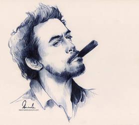 Ballpoint Pen - Robert Downey Jr. by kleinmeli