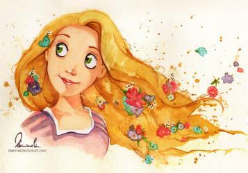 Tangled Watercolor by kleinmeli