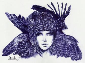 Ballpoint Pen Icarus by kleinmeli