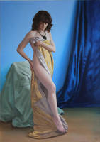 Wrapped in Satin Painting by LordSnooty