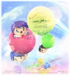 Happy Eid-Alfitr 1437-2016 by Kauthar-Sharbini