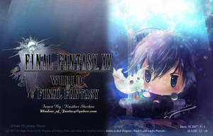 Final Fantasy XV Noctis in WOFF style by Kauthar-Sharbini