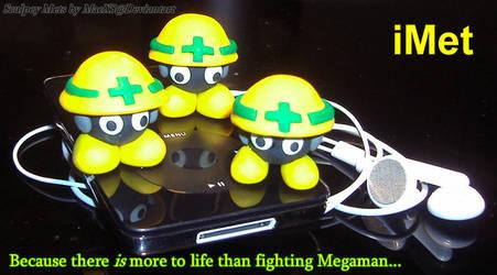 IMet aka Sculpey Megaman Mets by HeyLookASign