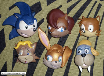 SatAM Freedom Fighters Magnets by HeyLookASign
