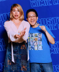 Me with Billie Piper aka ROSE TYLER OF DOCTOR WHO by HeyLookASign