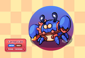Fakemon: Lock-Box Crab by The-Knick