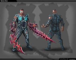 Demon Hero Front Back by steven6