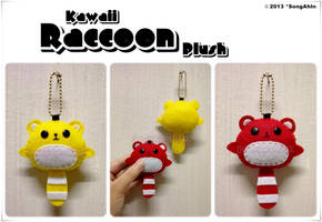 Kawaii Raccoon Plush by SongAhIn